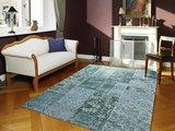 Patchwork vloerkleden New York 486 Turquoise_