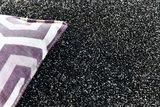 Effen vloerkleed Soraja kleur antraciet 040_