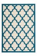 Modern-vloerkleed-Dolf-Ivoor-Turquoise